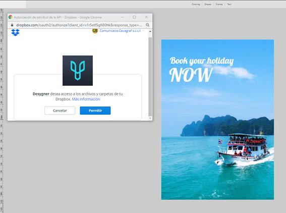 hacer folletos online desde Dropbox