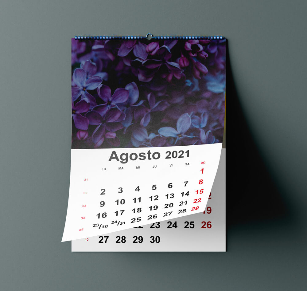 calendario pared wireo
