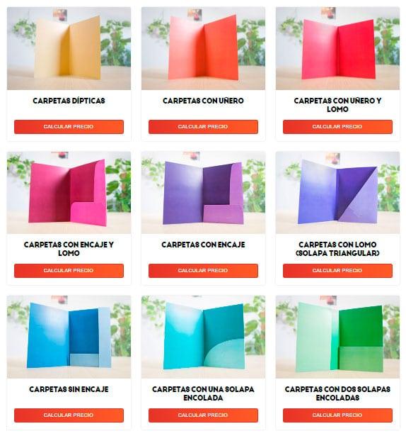 diferentes tipos de carpetas para campaña electoral