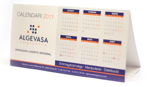 calendarios personalizados triangulares