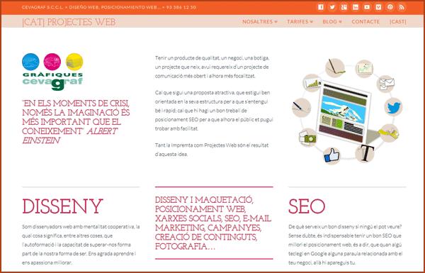 projectes web Cevagraf