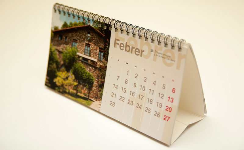 Calendario de mesa 2015: Plantilla gratis para imprimir