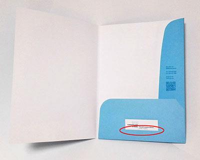detalle carpeta corte para tarjeta de visita