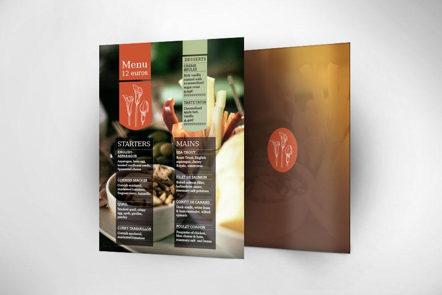 plantillas para menu restaurante