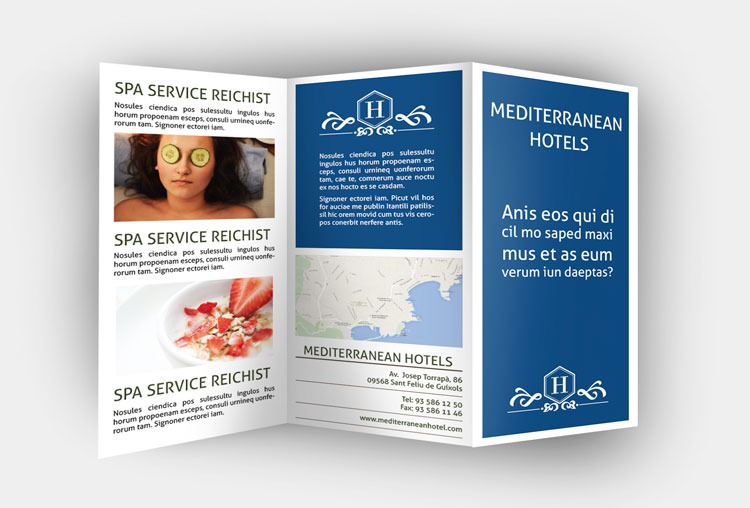 triptico indesign plantilla