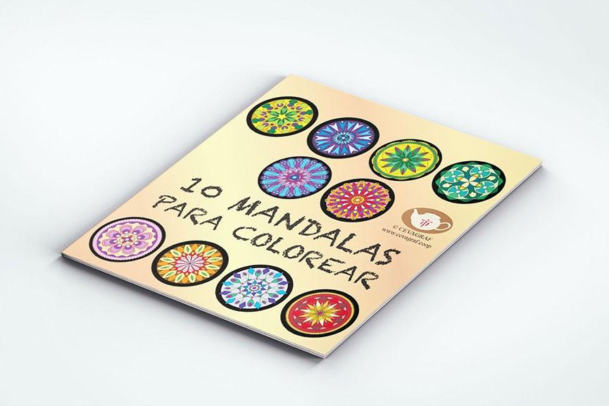 portada libro para colorear mandalas