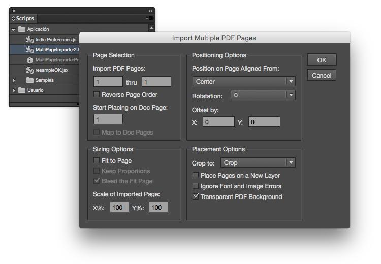 importar múltiples páginas de catálogos con indesign