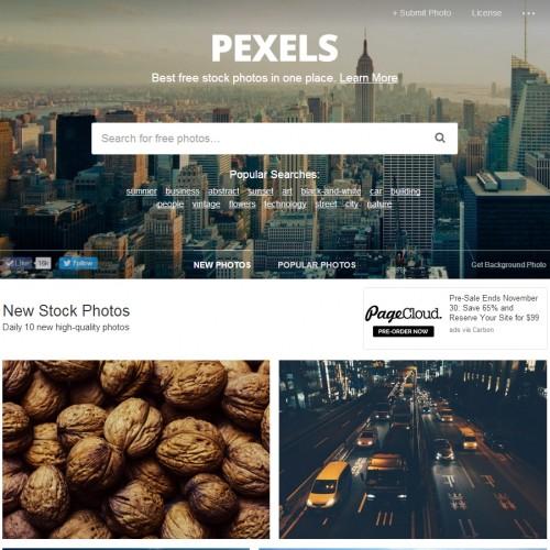 Pexels imágenes gratuítas