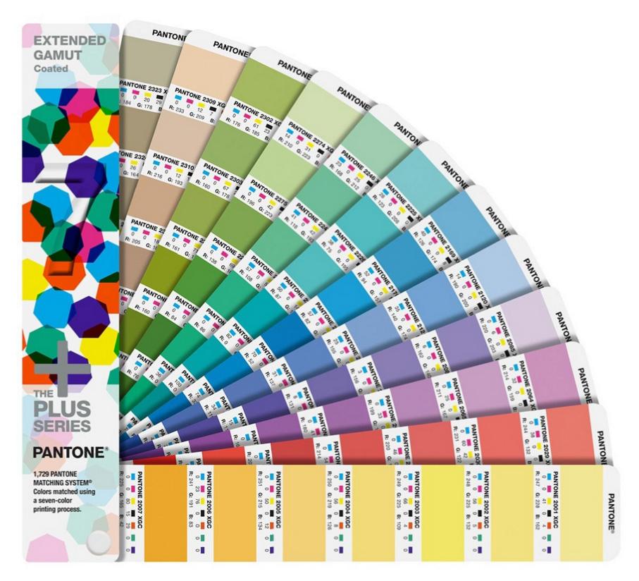 Cartas de colores Pantone EXTENDED GAMUT Coated Guide