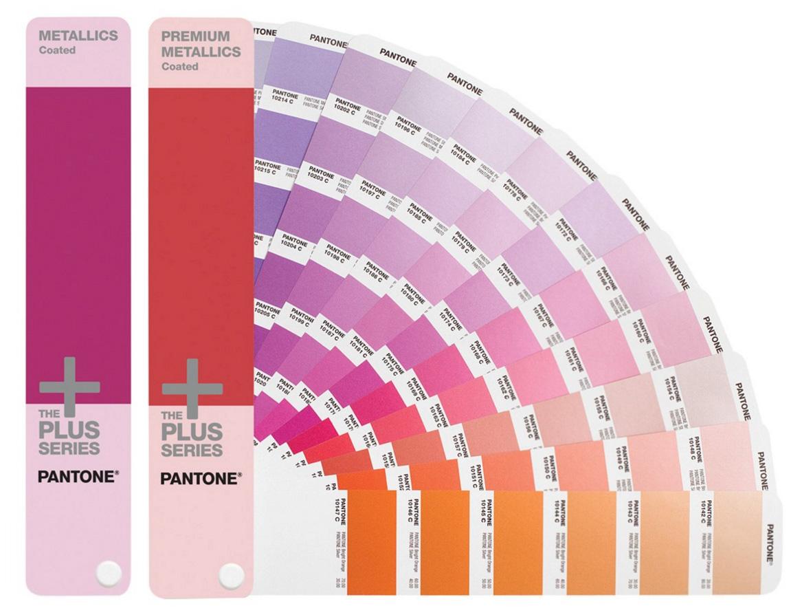 Cartas de colores Pantone METALLICS y PREMIUM METALLICS