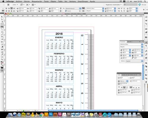 marcapaginas calendario 3