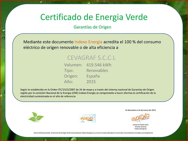 prácticas ecológicas - certificado energía verde