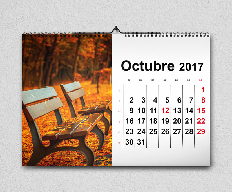 calendari de paret apaïsat