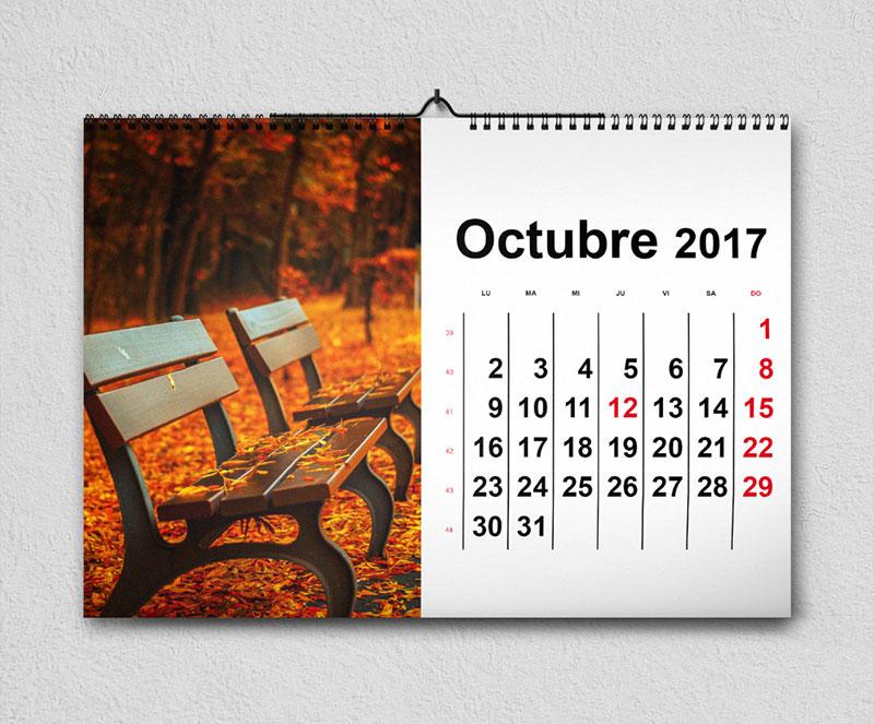 calendarios 2017 murales plantilla indesign