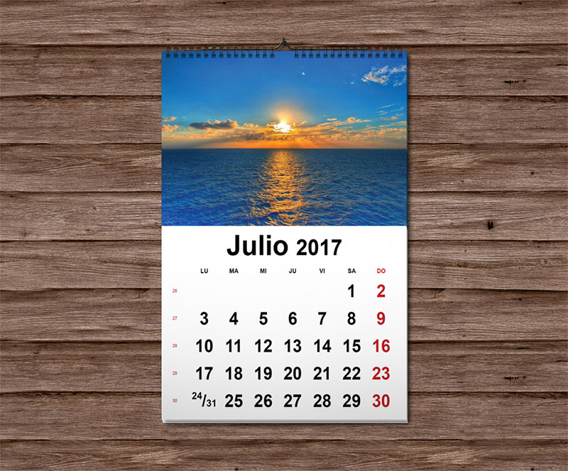 calendario de pared 2017 wire-o