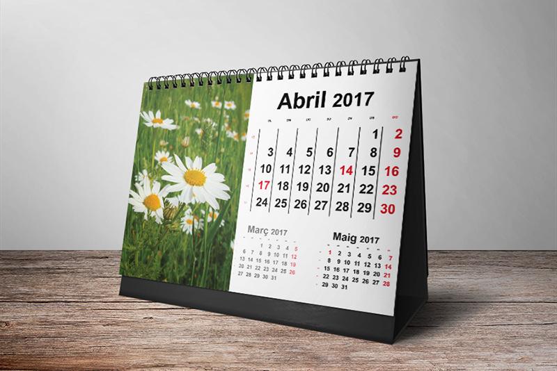calendaris de taula