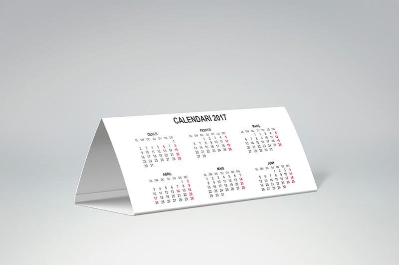 calendari triangular de taula català