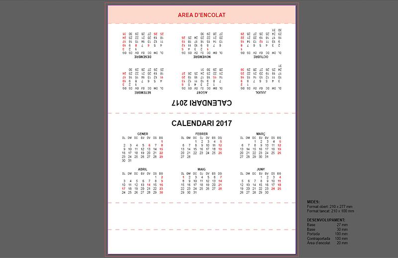 plantilla gratis calendari triangular de taula