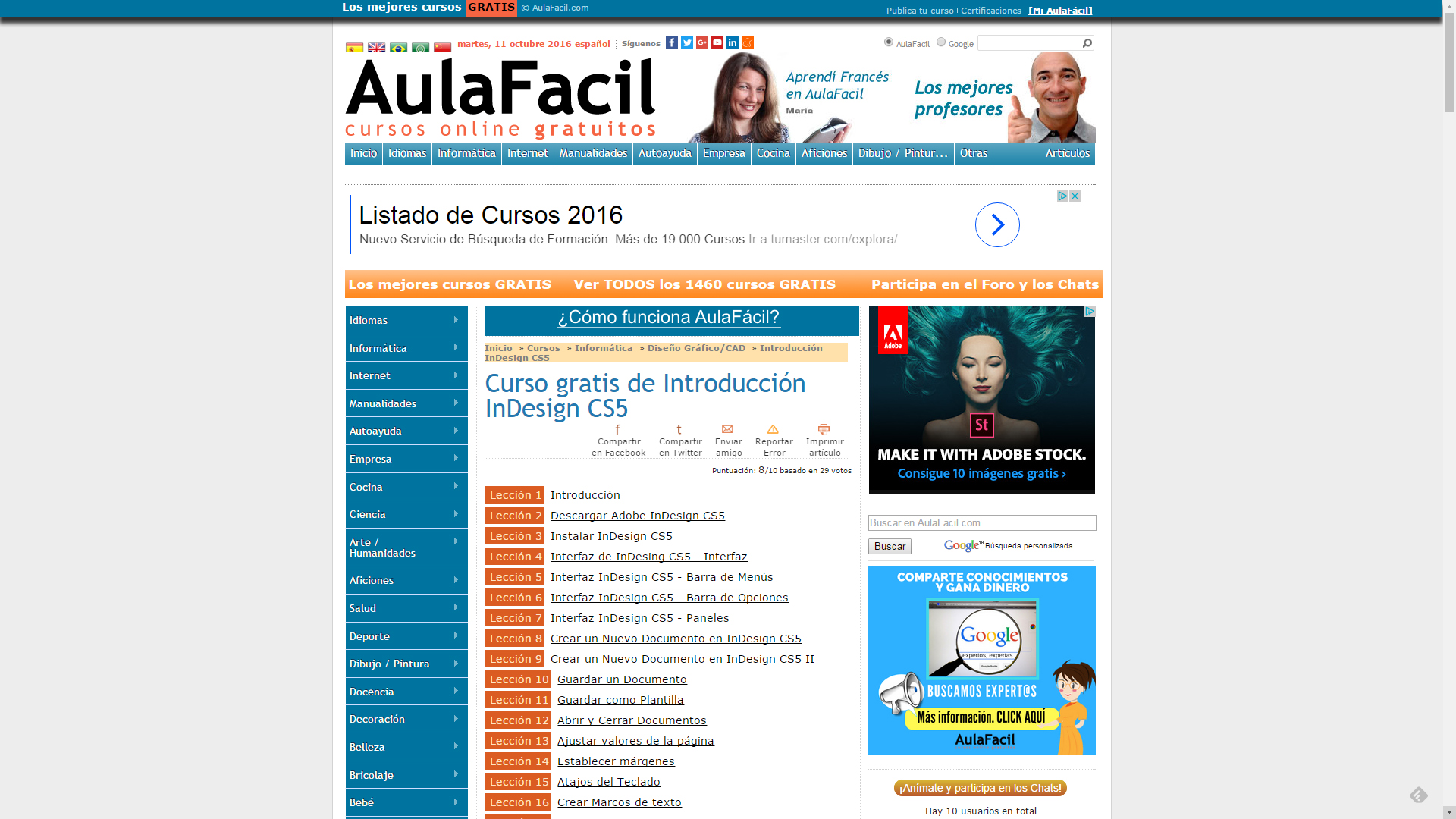 Aula Fácil InDesign