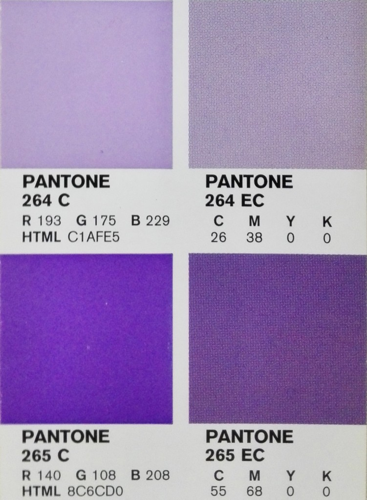 carta de colores Pantone Bridge