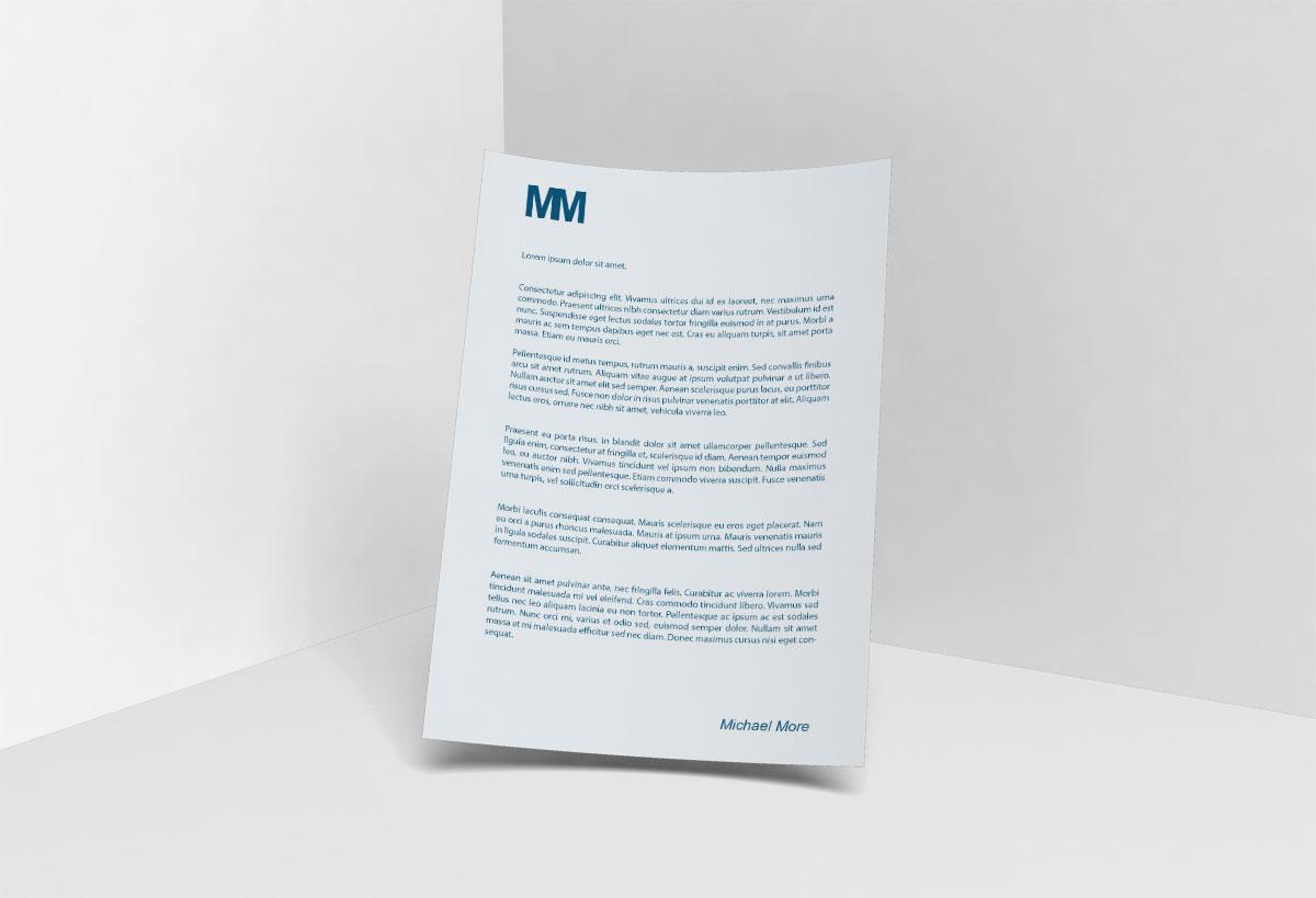 Carta - Papelería corporativa