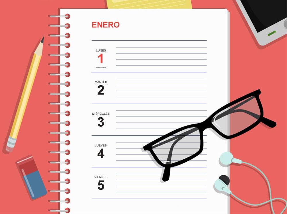 Agenda 2018 Plantilla Gratis para Imprimir