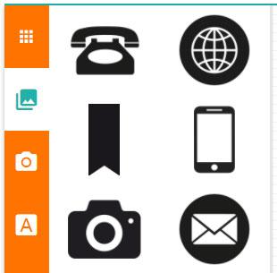 elementos del diseñador online de tarjetas de visita