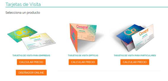 tarjetas de visita online