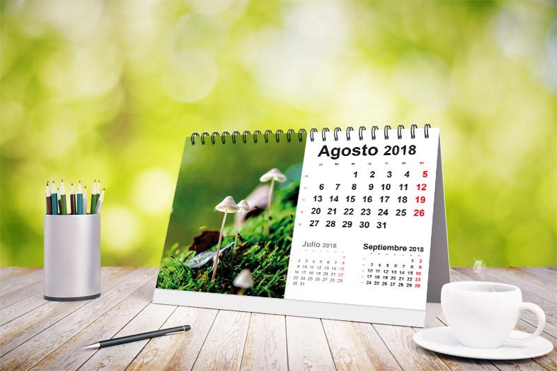 calendario mesa 2018