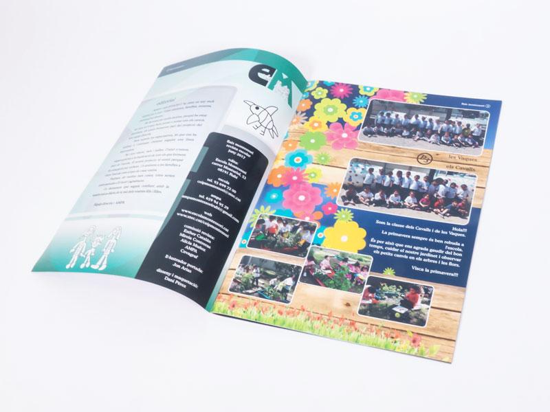 imprimir una revista escolar