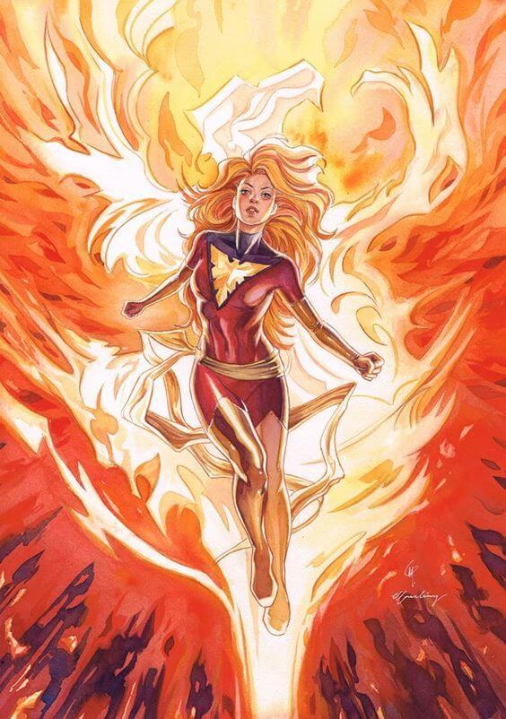 Superheroinas Marvel Jean Grey Phoenix