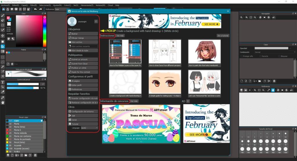 perfil de usuario de Medibang