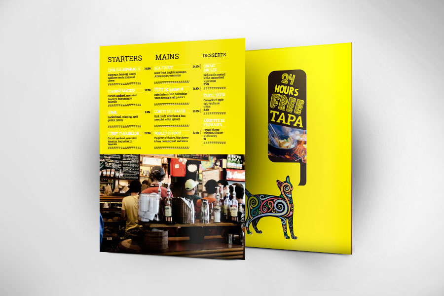 Print Restaurant Menu - Catapa
