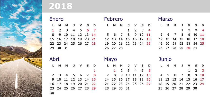 Imprimir Pack 3 Calendarios Triangulares De Mesa 21×10 Cm – 2018