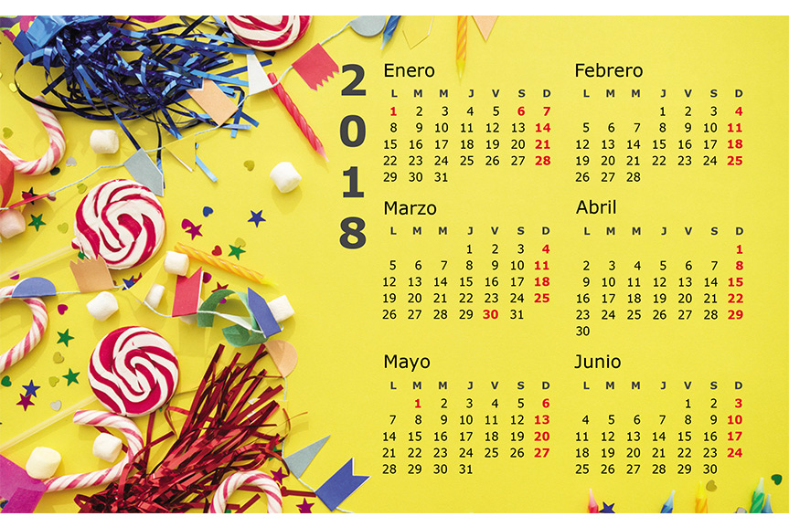 Imprimer Pack 3 Calendriers De Table Triangulaires 21 × 14,8 Cm - 2018