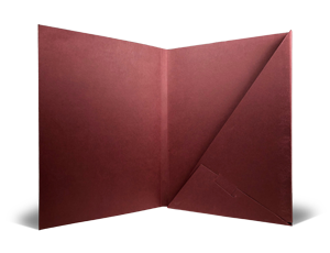 Print custom Triangular-pocket Capacity Folders