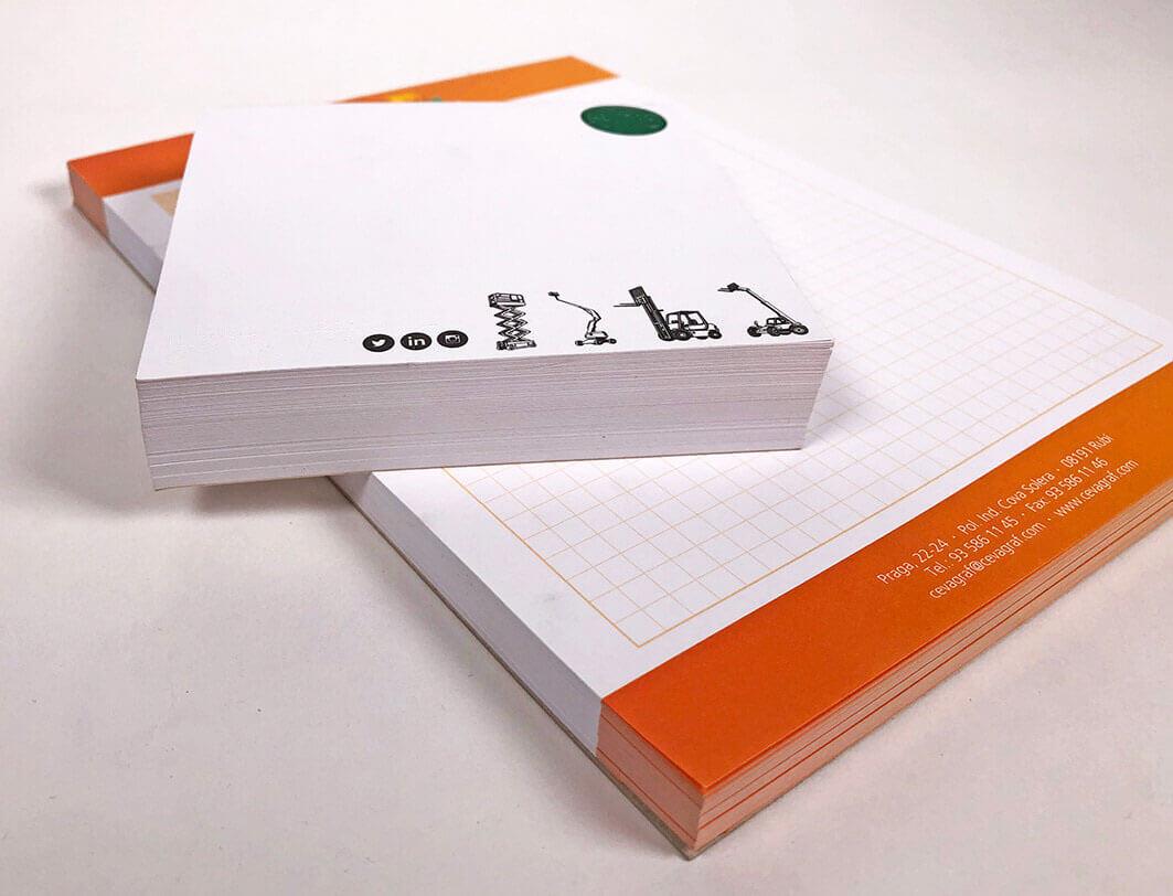 blocs de notas como pieza de merchandising para empresas