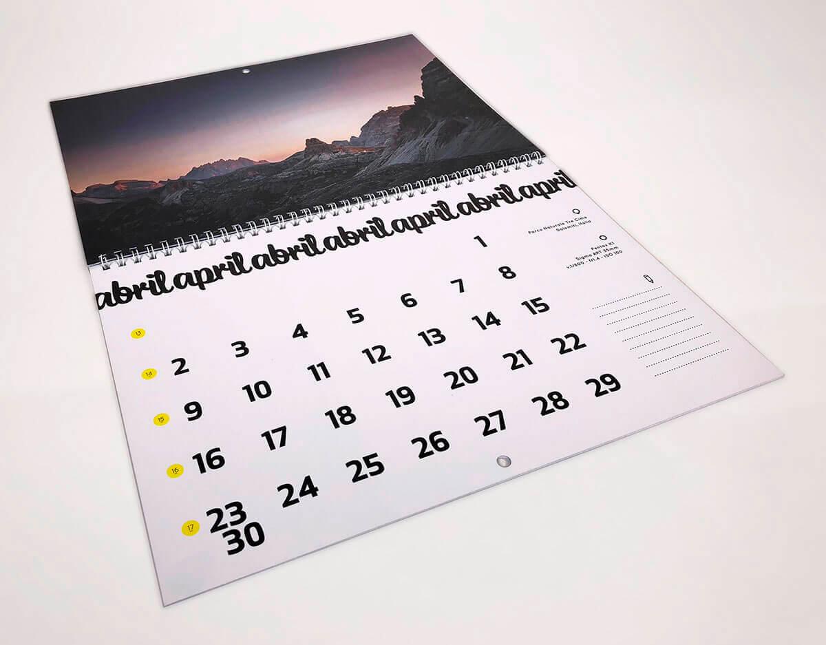 Calendario Din A4.Calendarios De Pared En Espiral O Wire O Imprime Tus