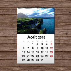 calendrier mural 2018
