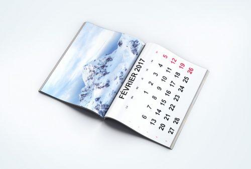 calendrier agrafe