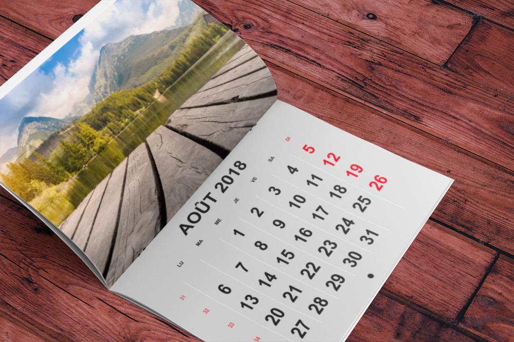 calendriers agrafés 2018
