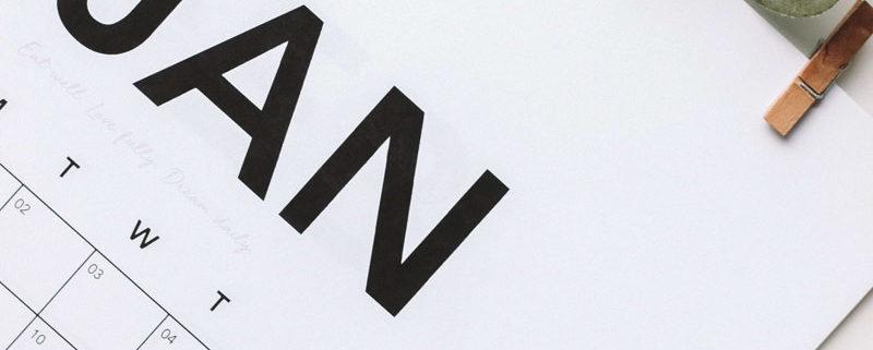 Calendrier 2020 à imprimer : Modèles InDesign Gratuits pour Imprimer