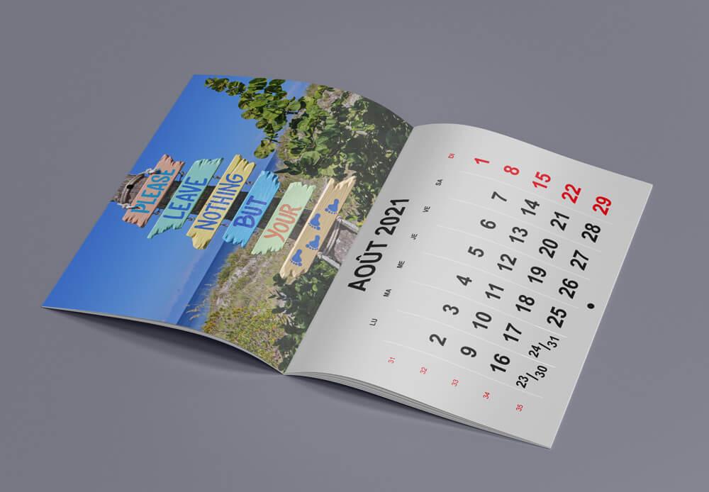 calendrier agrafé
