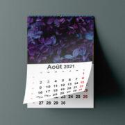 Calendrier 2021 à imprimer · Modèle indesign gratuit